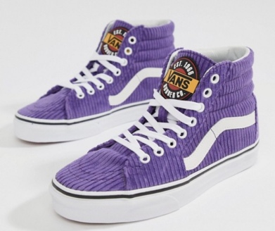 VANS Purple Corduroy Hi Tops