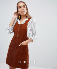ASOS Rust Corduroy Dress