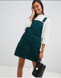 ASOS Green Corduroy Dress
